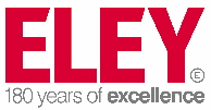 ELEY logo with excellence strap CMYK